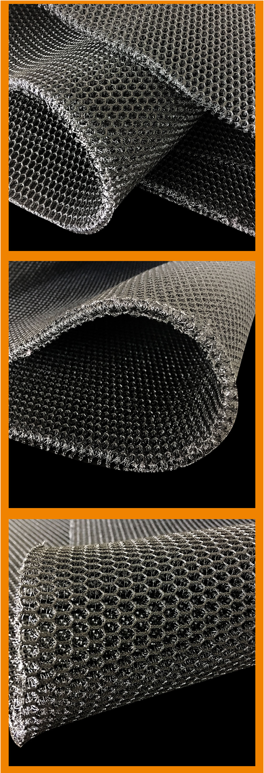 OEM breathable warp knit polyester 6mm 470gsm thick 3d air spacer mesh fabric for tent