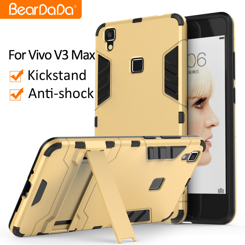 TPU+PC hybrid kickstand back cover case for vivo v3max v3 max cover