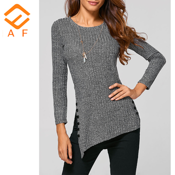 Muslim ladies latest long sleeve top fashion long tops design for women