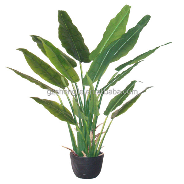 Artificial bonsai flower fake banana trees for decoration for Artificial banana leaves decoration