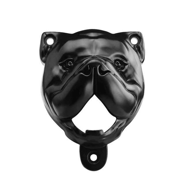 Animal head decoration wooden wall hanging dog head bottle opener