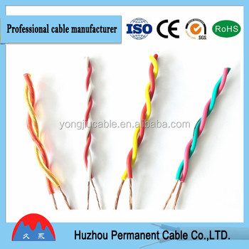 PVC Insulated Twisted flexible Cable for Wiring of Switch Control