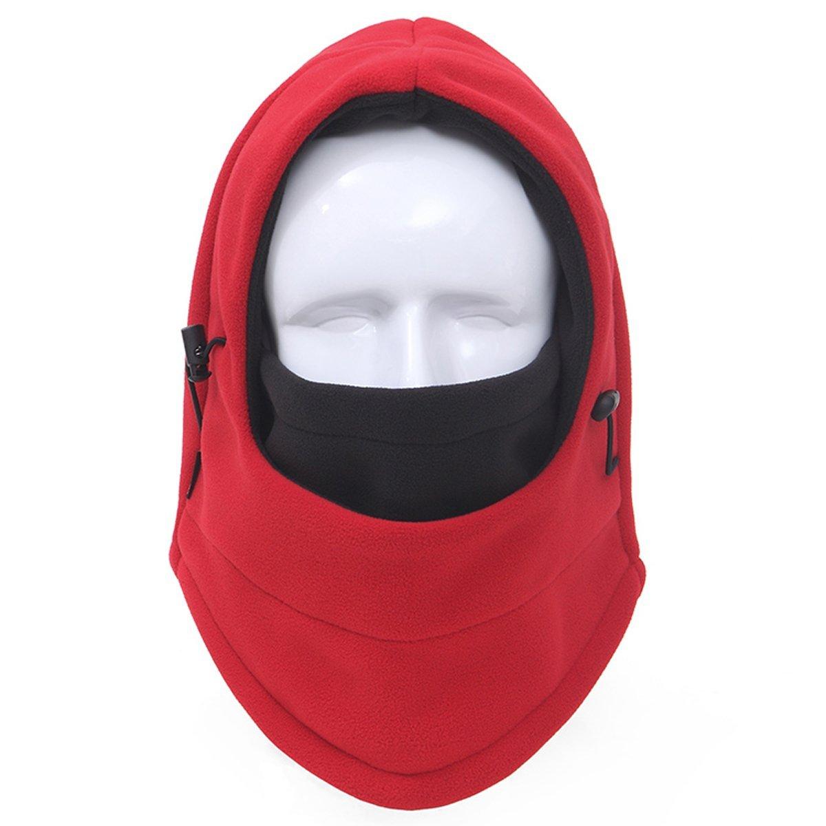 cf761e3a39e 6 in 1 Double Layers Thermal Ski Face Mask WalkingMan Motorcycle Fleece  Balaclava Windproof Hooded Neck