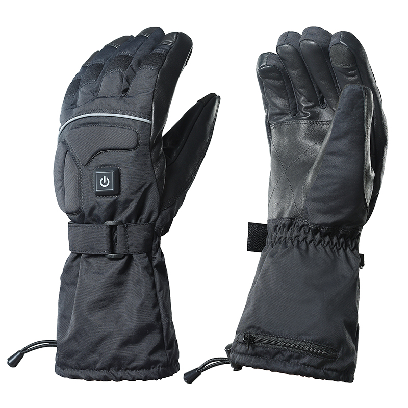 Men's winter 7.4v battery operated heated gloves waterproof windproof for <strong>motorcycle</strong> <strong>riding</strong> skiing