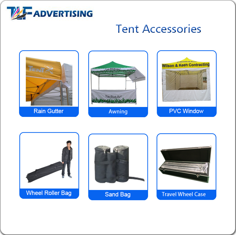 Factory wholesale advertising event 4.5 x 3 pop up gazebo tent