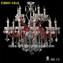 design modern glass crystal pendant light finish clear crystal