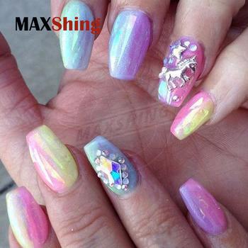 Nails Aurora Chrome Powder Glitter Nail Art Mermaid Pigment Diy Pretty