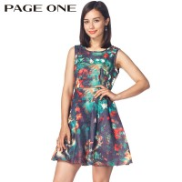 Fashion Dress National Style High Quality Sleeveless Women Dresses