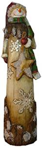 Craft Outlet Tall Resin Snowman Figurine, 3.35 by 2.75 by 11.45-Inch