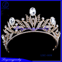 2017 Shiny Real Diamond Tiaras And Crowns Wedding Jewelry