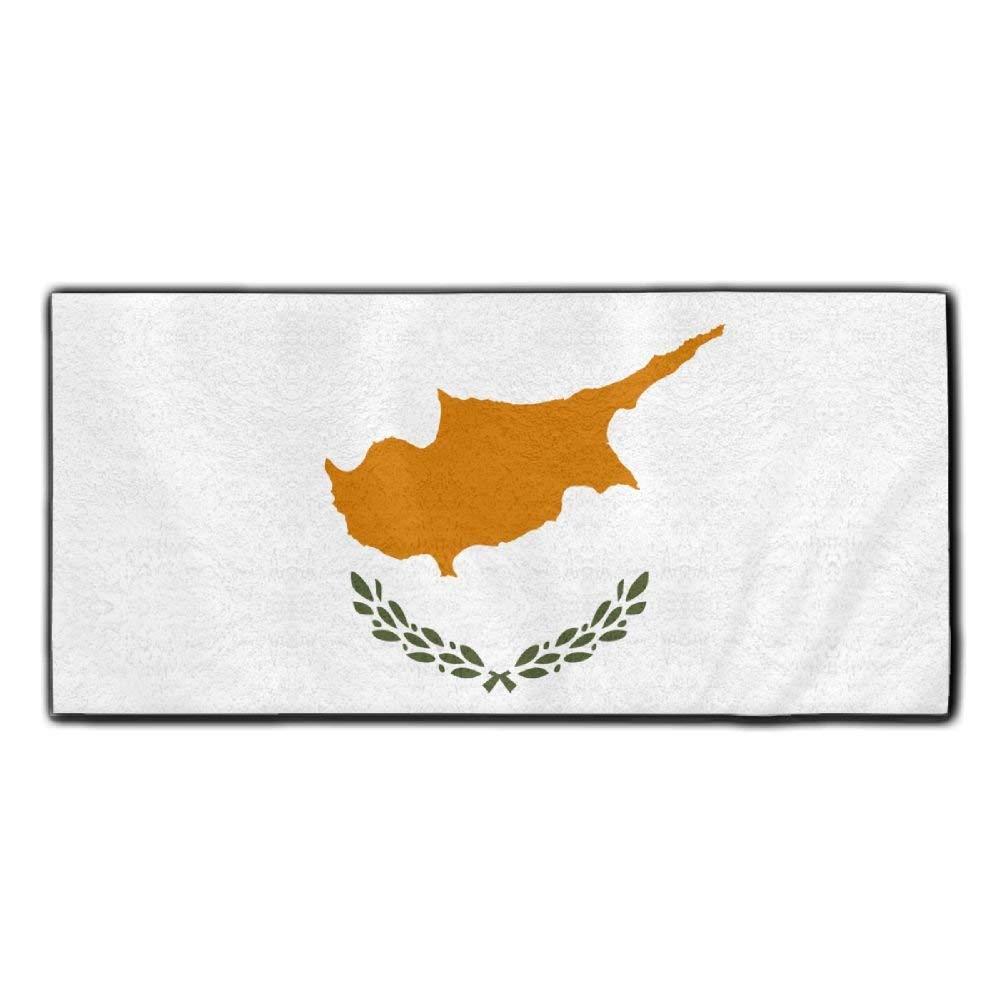 ChunLei Cyprus Flag Washcloths Face Towel Hair Care Towel Gym And Spa Towel Kitchen Dish Towel