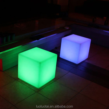 Different Size Glow Cube Waterproof Bar Led Cube Plastic Furniture Light  Power Chair Lighting For Outdoor