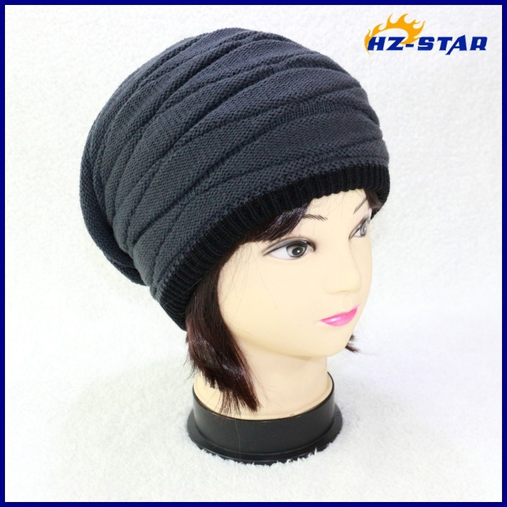 HZM-14079014 Excellent man thick long warm newest double jacquard football club teams cool winter hats for men winter