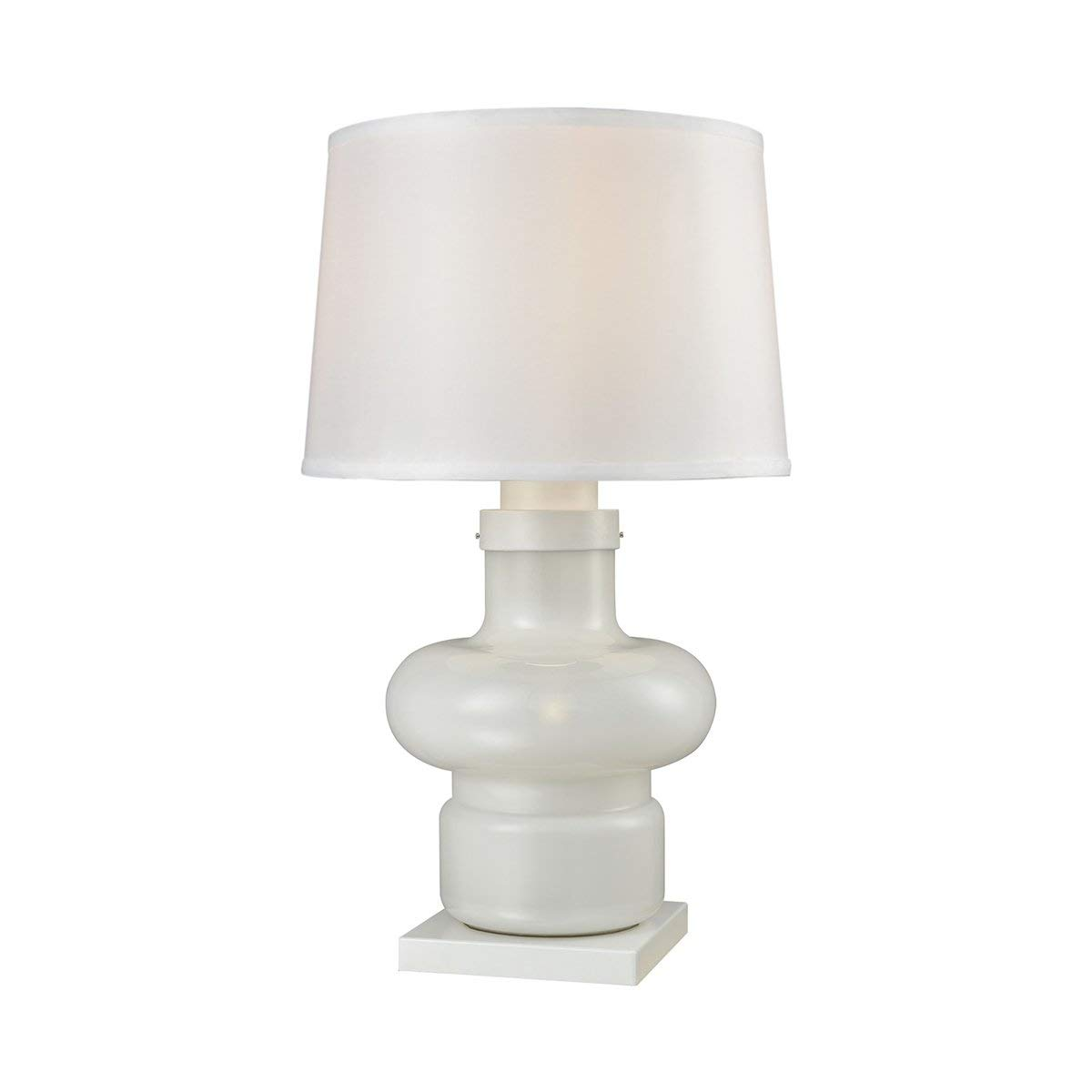 Dimond D3293 Sugar Loaf Cay Outdoor Table Lamp, 1-Light 100 Watts, Milk Glass