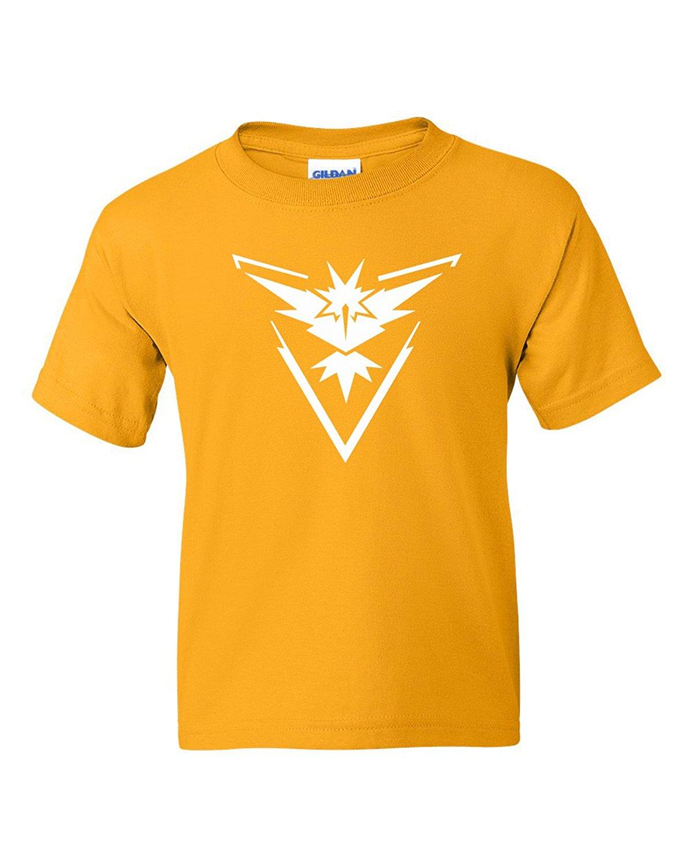 1ec02bcd Buy Custom Apparel R Us Pokemon Go Gym Team Instinct Yellow Youth Boys  Girls Short Sleeve Tee T-Shirt in Cheap Price on m.alibaba.com