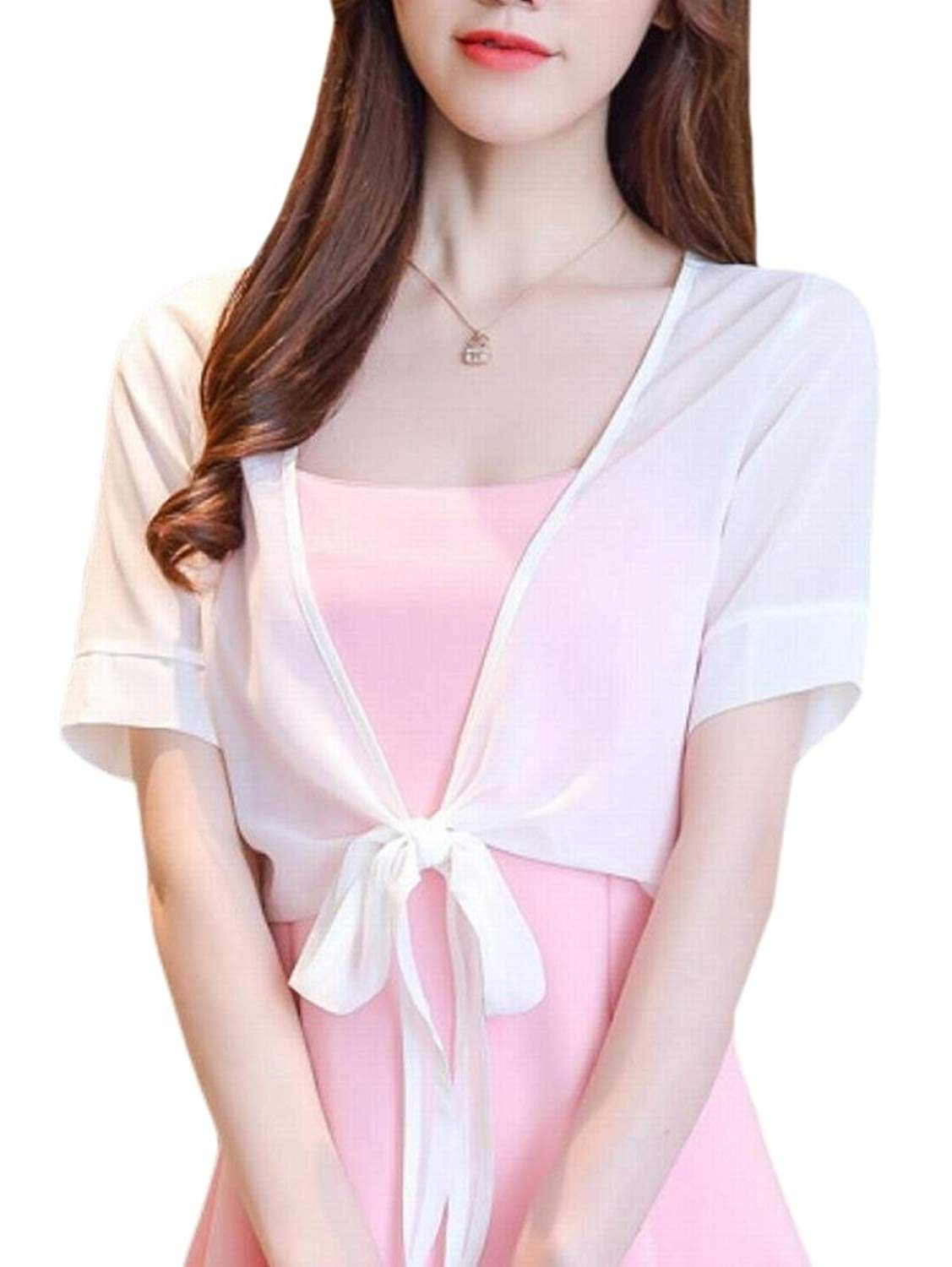 68a677d409 Clothing Sheicon Women Lace Mesh Short Sleeve Cardigan Shrug Cover Up  Summer Wrap Shawls Sweaters