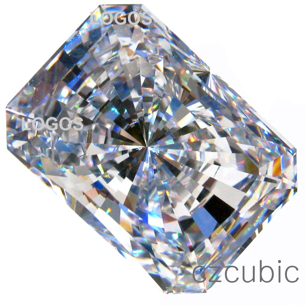 "CUBIC ZIRCONIA (LOOSE STONE CUBICZIRCONIA) WHITE COLOR EMERALD SHAPE/ ROUND CUTTING CLEAR CZ 14.0 X 10.0 MM (10.00 CTS DIAMOND WEIGHT) SUPER & SUPER QUALITY .NOT "" AAA "" or "" AAAAA "" QUALITY"