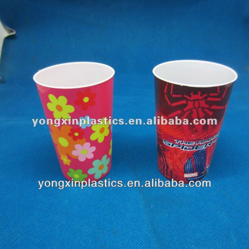 3d lenticular cup with straw for children