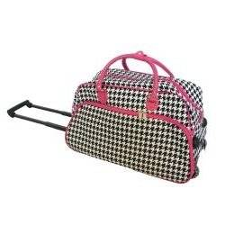 ed646a3d0a Get Quotations · Single Piece Pink Small Wheeled Duffle Bag