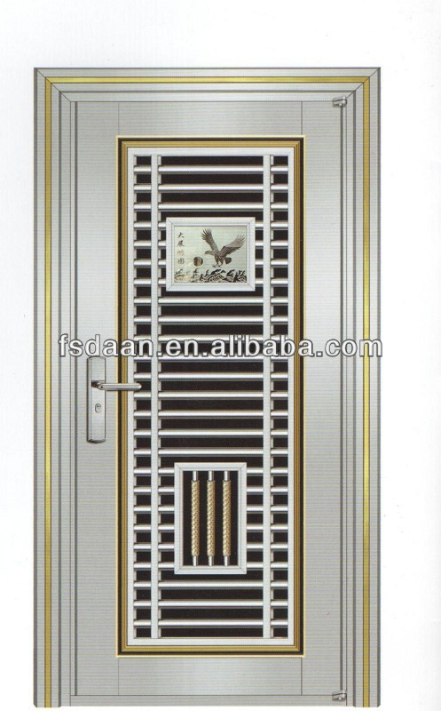 Grill door china wooden aluminium grill design french door Front door grill designs india