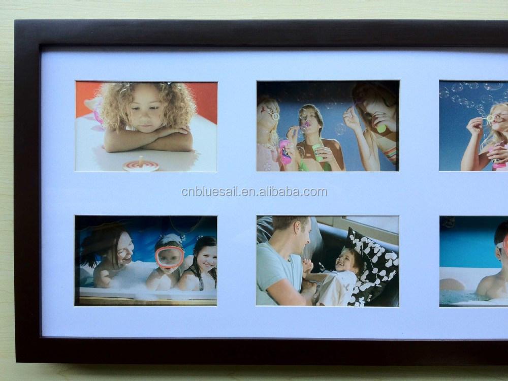 30x57 Cm Madera De Pino Marco Multi,Marrón Collage Marco De Fotos,6 ...