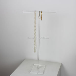Acrylic T-bar Necklace Display Stand Acrylic, Jewelry Display Holder, Accessories Display Rack