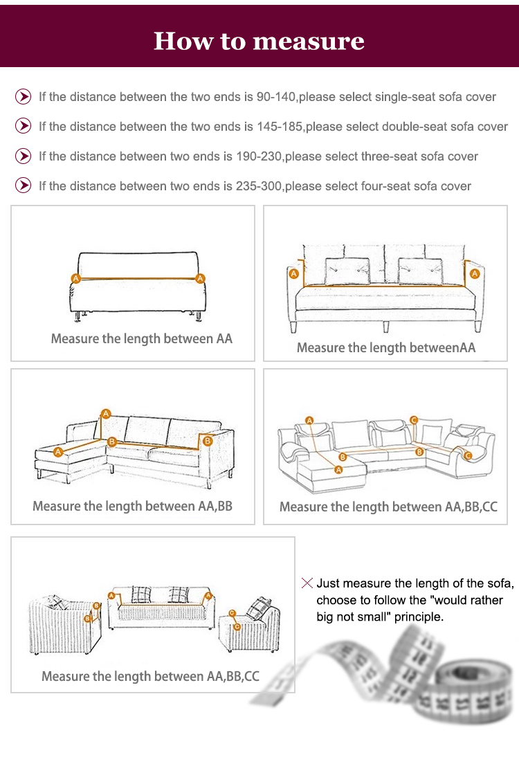 Soft High Stretch Sofa Elastic