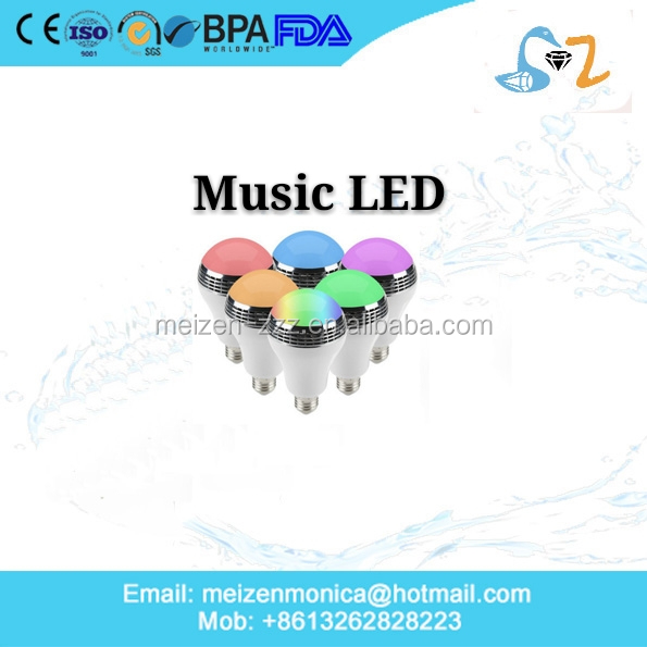 Bluetooth Music Bulb Playing RGB Change Light with 24keys Remote Control Wireless Stereo Audio Speaker