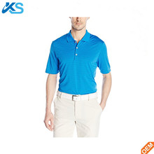 High Qaulity Golf Men's Jersey Short Sleeve Stripe Yarn Dye Leisure 100% Spun Polyester Stripe Men Polo Shirt