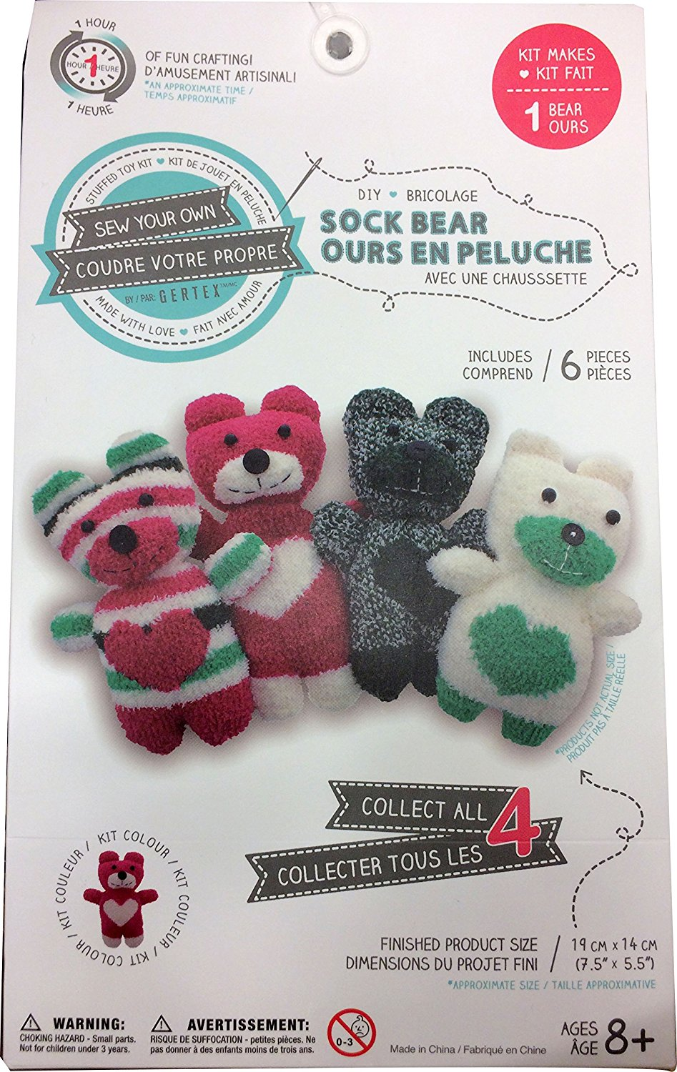 Buy Sew Your Own Diy Sock Bear Kit Red Bear In Cheap Price On