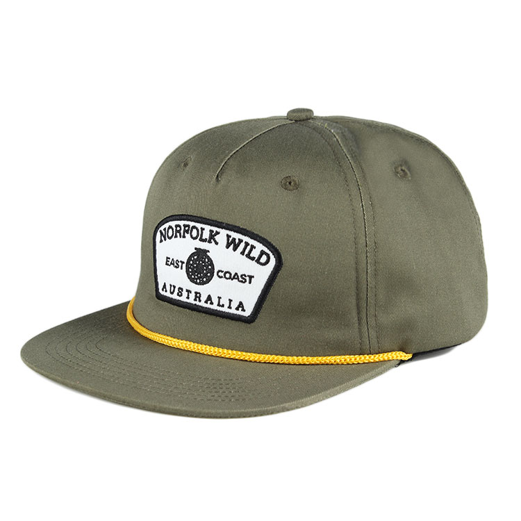 0a263d81d36 custom adjustable 5 panel classic blank plain rope snapback hat with  leather strap