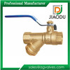 JD-5920 Y type strainer brass ball valve