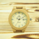Promotional female gift digital wooden watch for women timepieces
