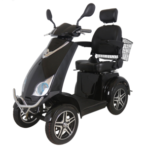 Disabled person electric scooter with rear basket scooter for sale