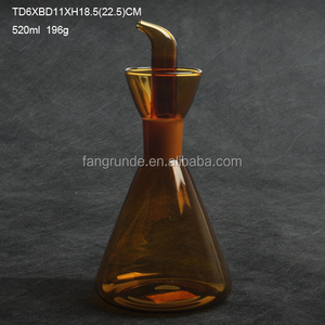 MACHINE MADE TOP QUALITY UNIQUE SHAPE BLOWN GLASS PRODUCTS WITH LID
