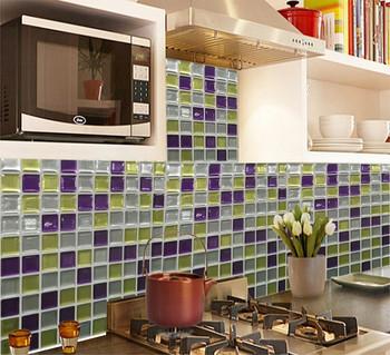 Kunst 3d Mosaik Wasserdicht Und Öldicht Fliesen Aufkleber In Verschiedenen  Farben Für Küche Wand Dekoration - Buy 3d Mosaik Wandfliese ...