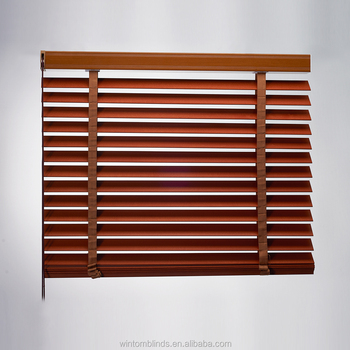 50mm slat Manual Chain(Cord) Aluminum Wooden Venetian Blinds