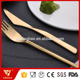 Dishwash safe elegant golden stainless steel matte finish stainless steel 304 spoon knife fork cutlery set