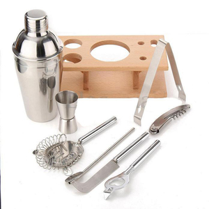 Promotions Stainless Steel Cocktail Shaker Mixer Drink Bartender Martini Tools Bar Set