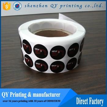 Custom Black Label Price Tag Sticker Make Labels Pre Printed