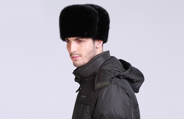33cc74009b5 2017 New Collect Mens Winter Fur Hat Russian Mink Fur Hat For Sale ...