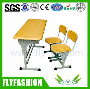 SF-05D High Quality School Furniture Classroom Chairs Double Student Desk and Chair