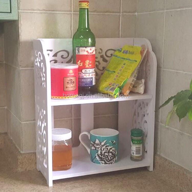 Mini Kitchen Spice Storage Organizer,Plastic Kitchen Shelf