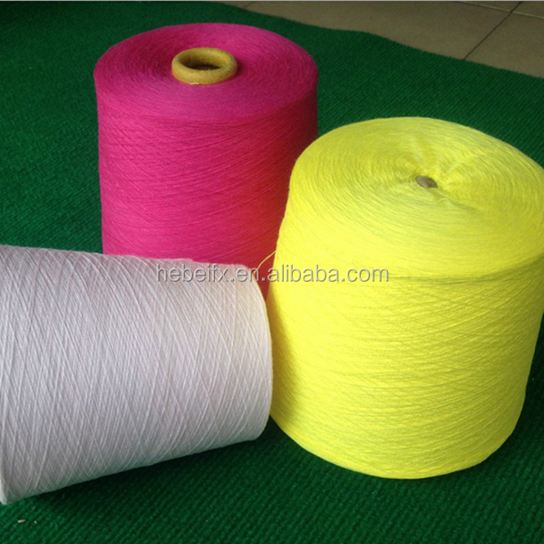 100% GRS Certified 32S machine knitting weaving dope dyed polyester blended cotton recycled yarn