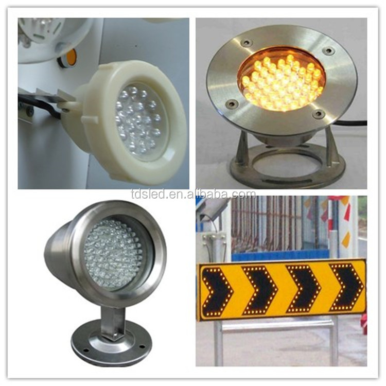 Transparent 10mm Yellow Led Lamp For Underwater Light