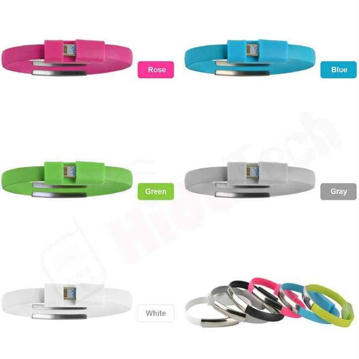 Bracelet Usb Cable Data Cable,Coloful Micro Silicone USB Charging Cable for iPhone