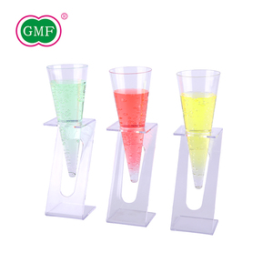 Fashion design plastic ice cream beverage cone cups with display stand