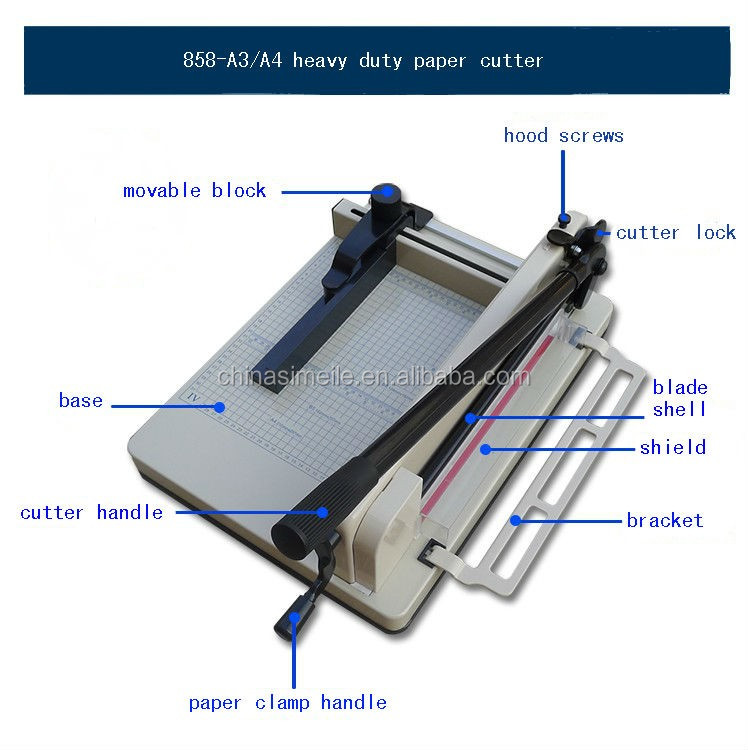 858 A3 Scrapbooking Metal Base Trimmer Stack Paper Guillotine Paper Cutter Paper Trimmer