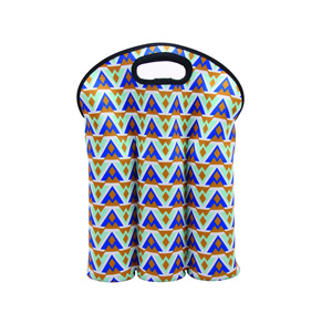 Insulated 3 Pack Neoprene Bottle Wine Cooler Tote Bag