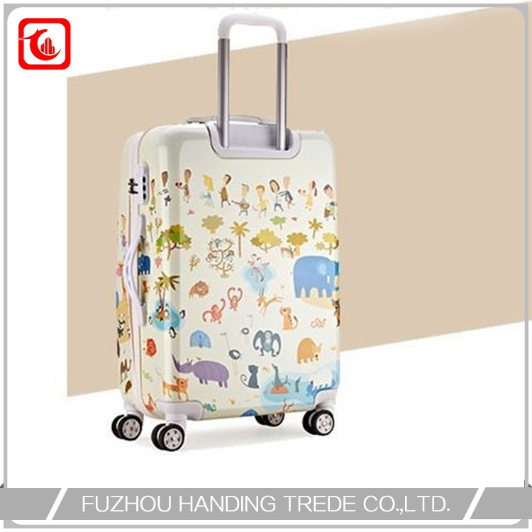 4 wheel print suitcase , cartoon character animal luggage